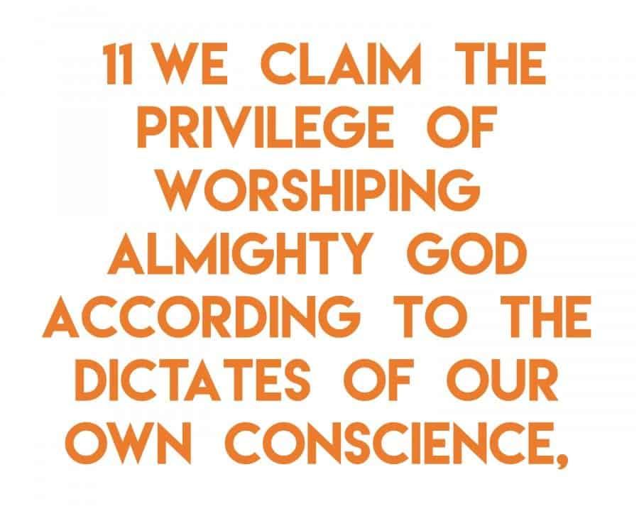 articles of faith 11 a