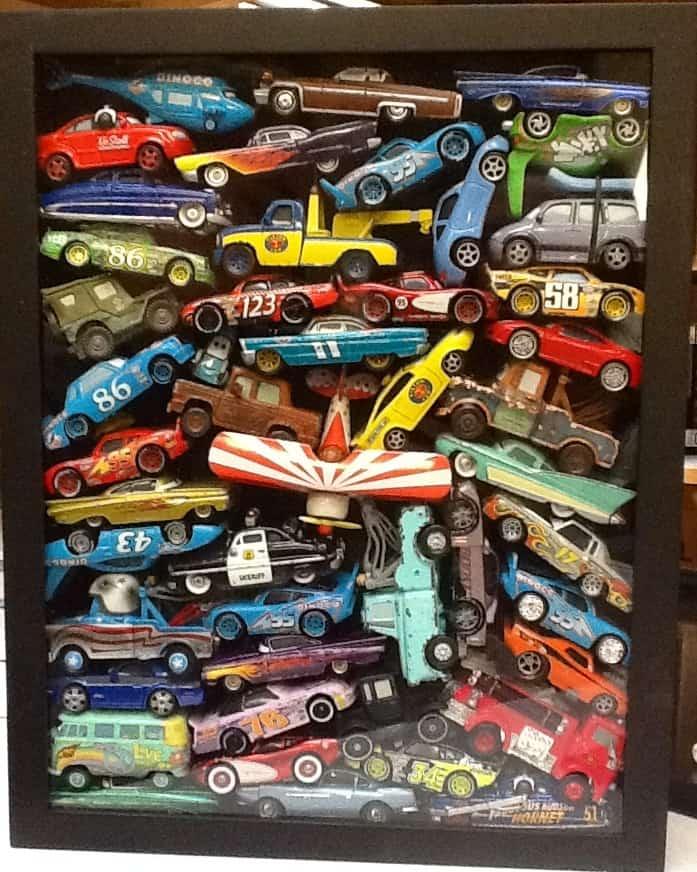 cars shadowbox