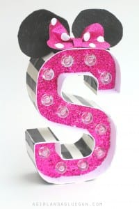 Minnie mouse marquee letters