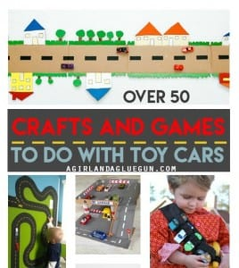 crafts and games to play with toy cars