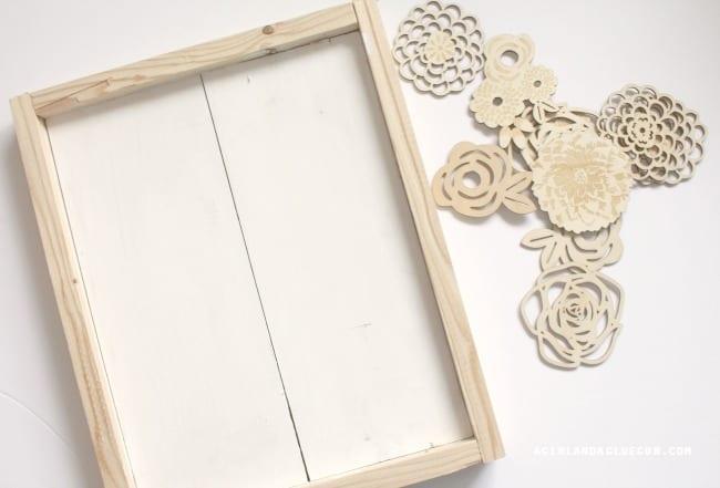 frame wood flowers
