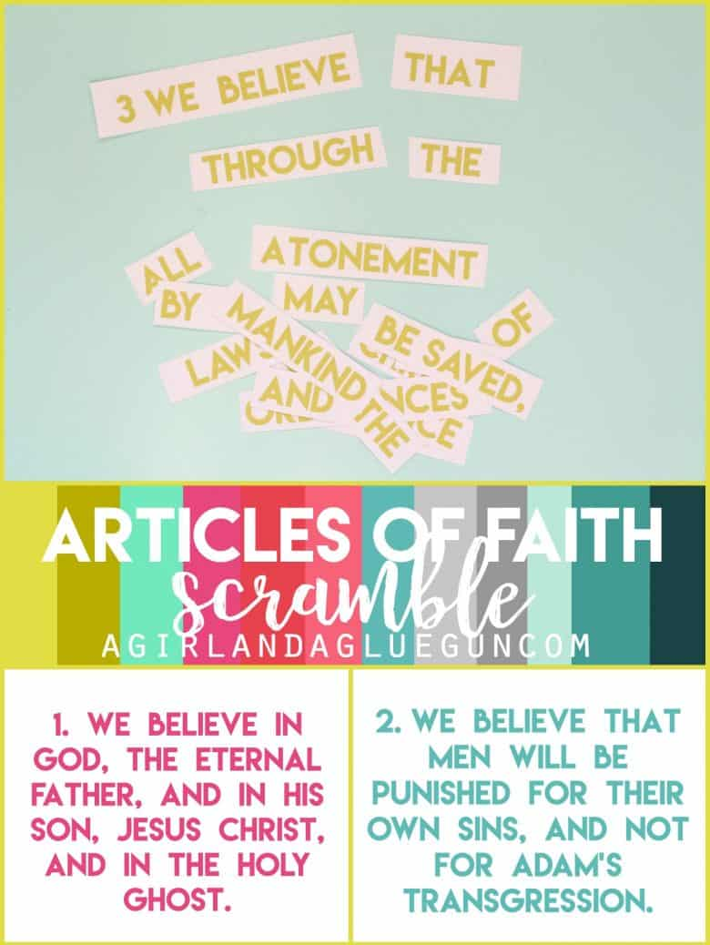 photo regarding Printable Articles of Faith referred to as Post of Religion Scramble - A lady and a glue gun
