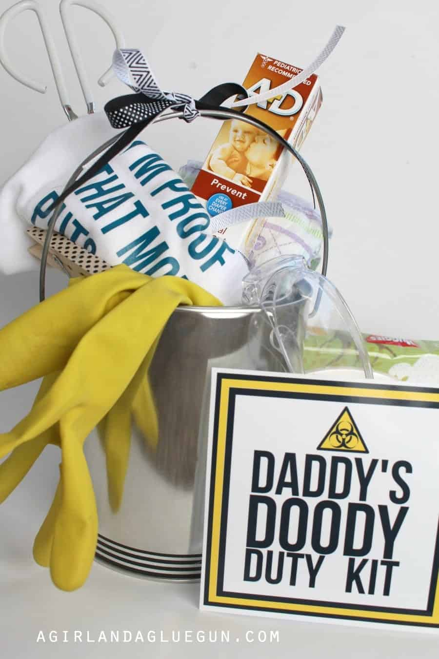 funny baby shower gift daddy doody duty kit a girl and a glue gun