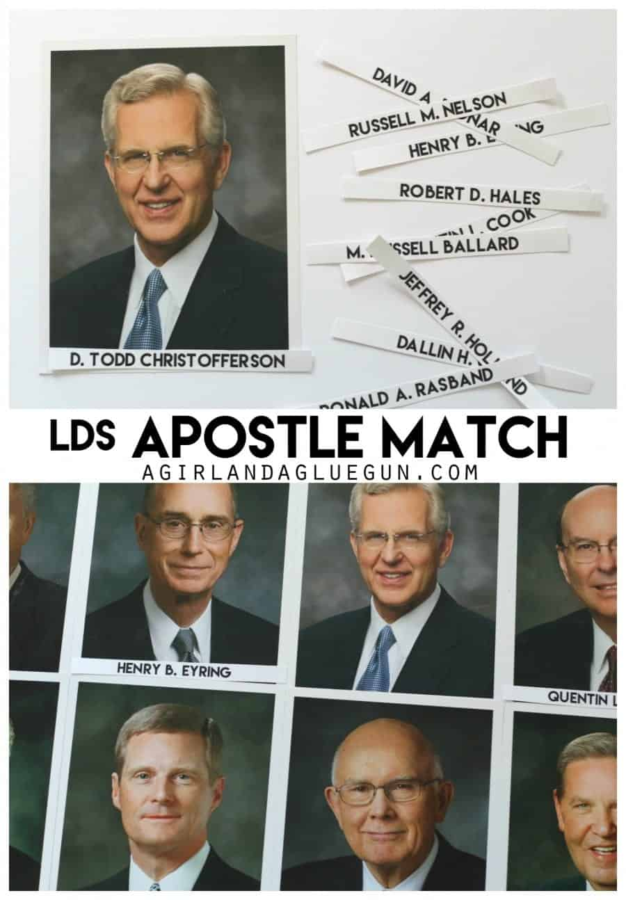 lds apostle match for activity days