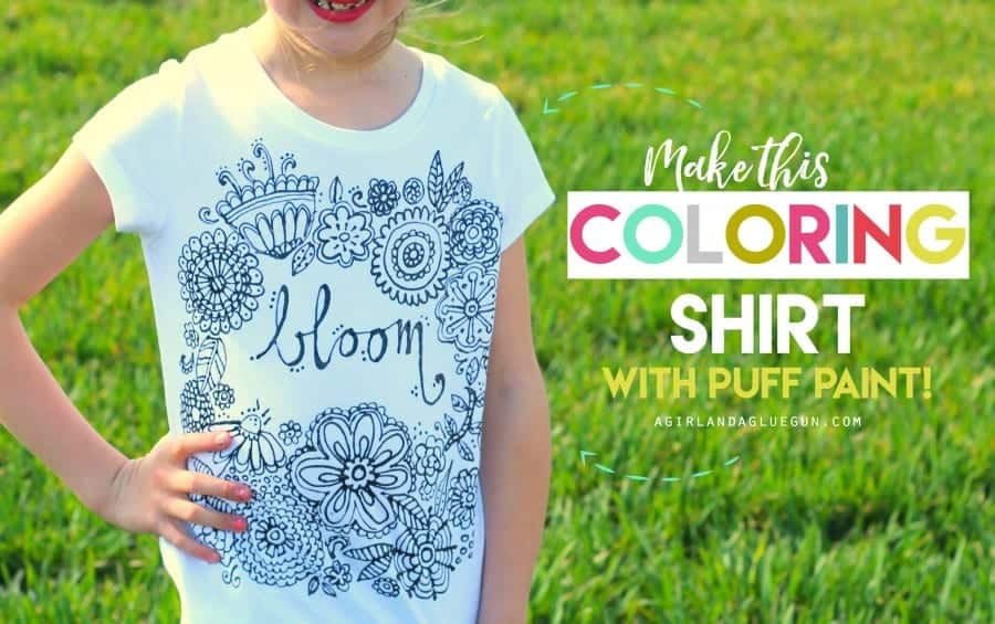 make a fun coloring shirt....with puff paint!