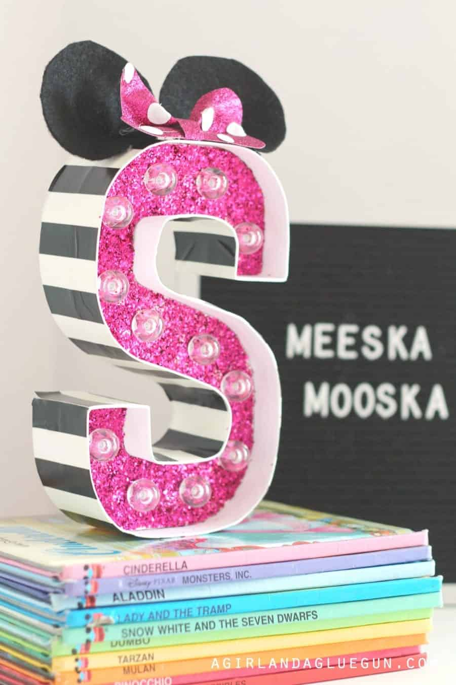mickey and Minnie mouse craft