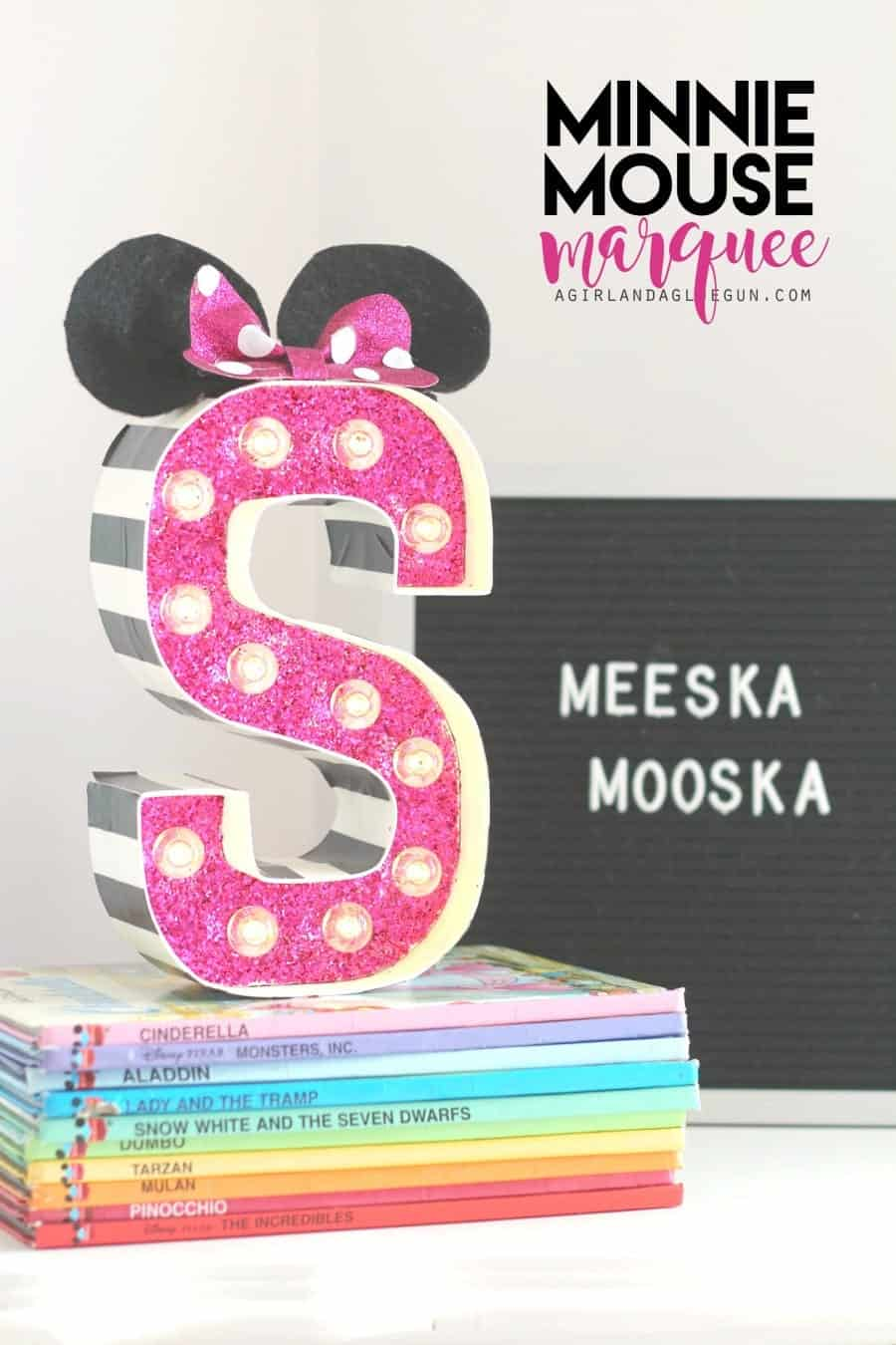 minnie mouse marquee letter diy