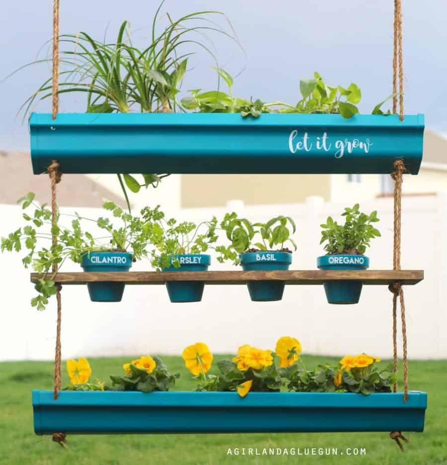 rain gutter planter