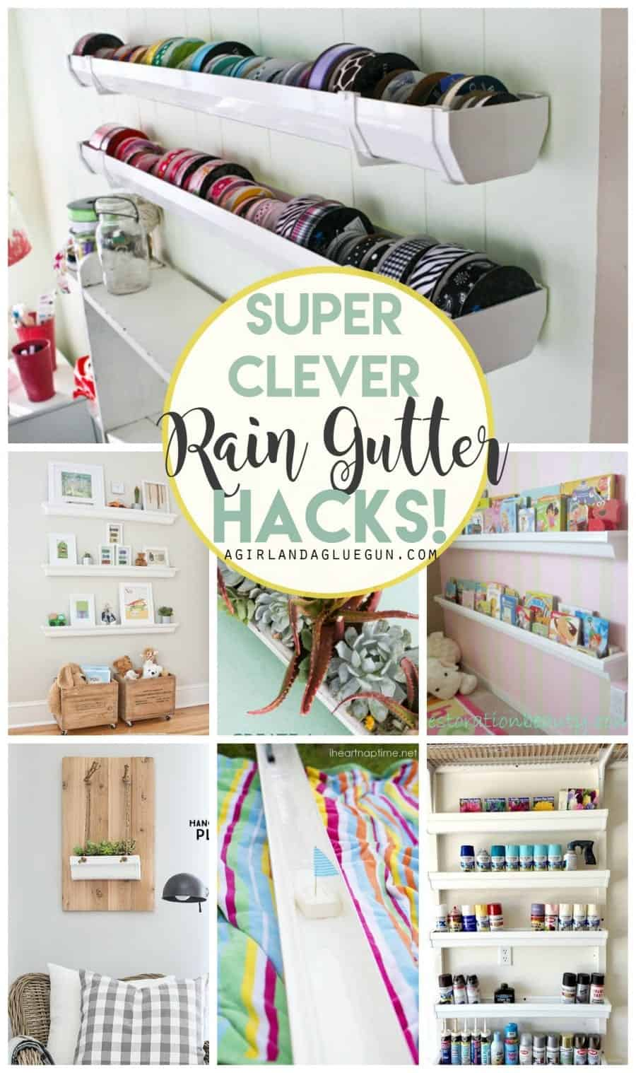 super clever rain gutter hacks! buy cheap vinyl rain gutters and upcycle them into awesome projects