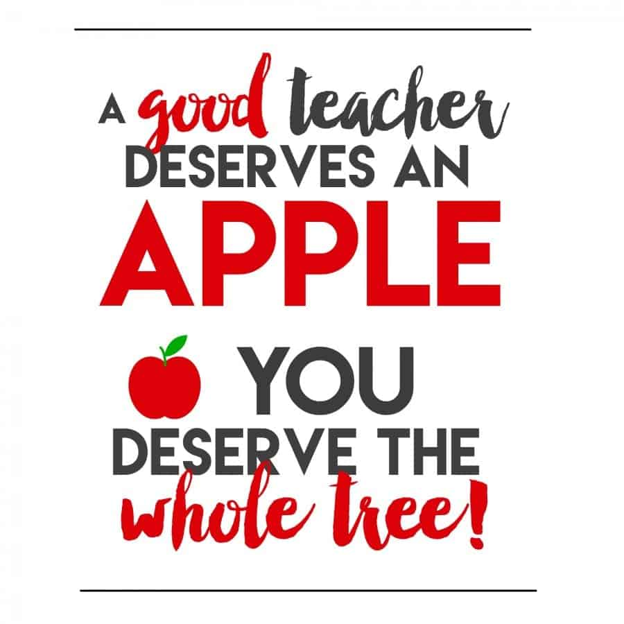 teacher apple printable