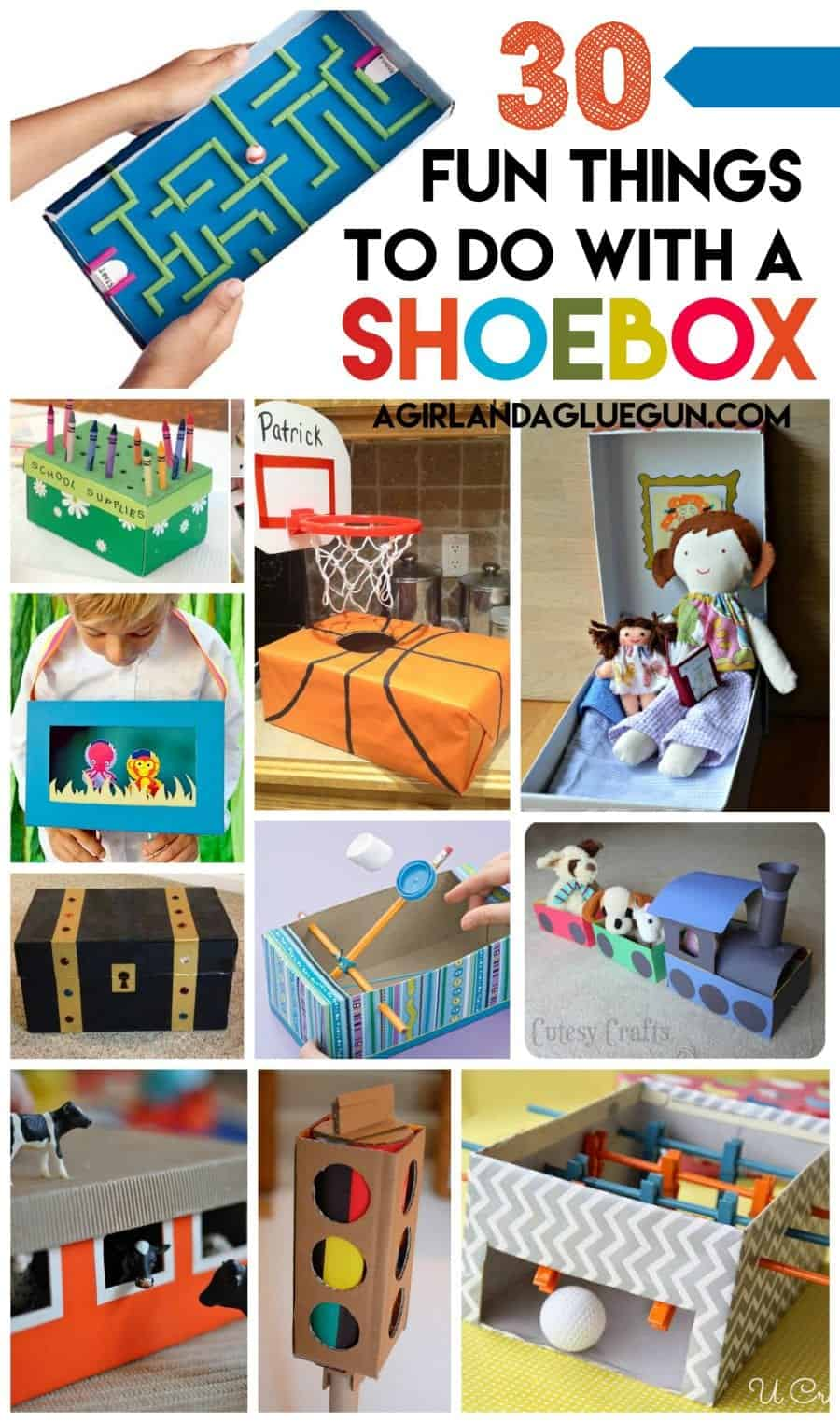Shoe box crafts for kids a girl and a glue gun for Cool things to make and do