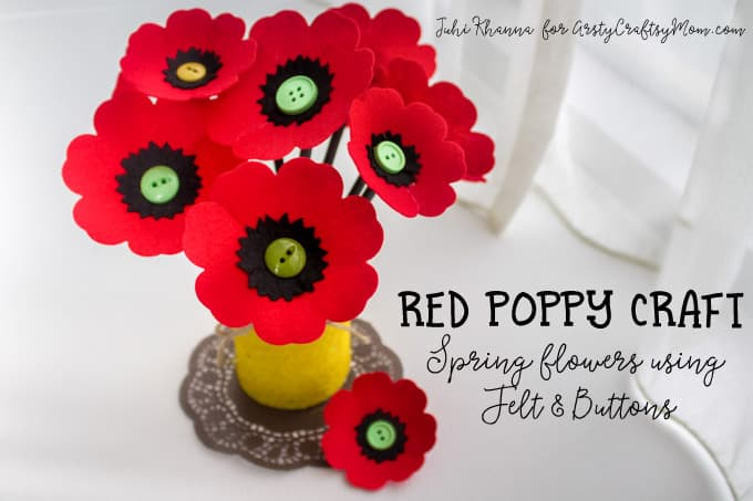 Red-Poppy-Flower-Craft-using-felt-button-6