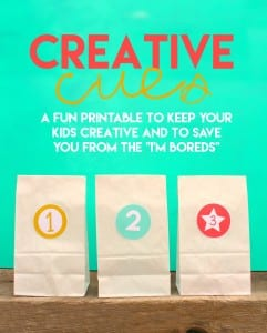 Creative cues-kids activity with free printables
