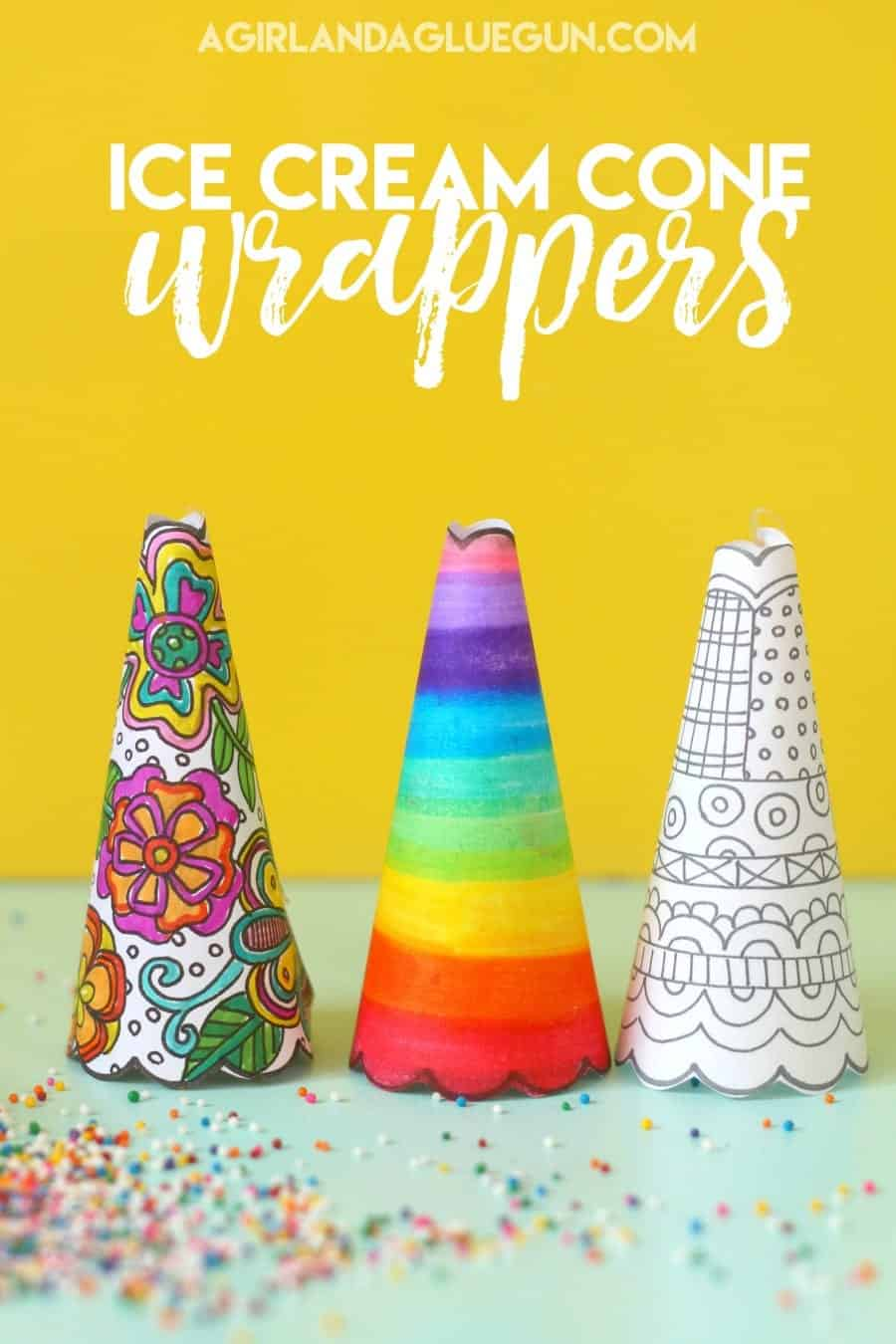diy ice cream wrappers