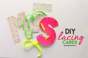 diy lacing cards kids craft