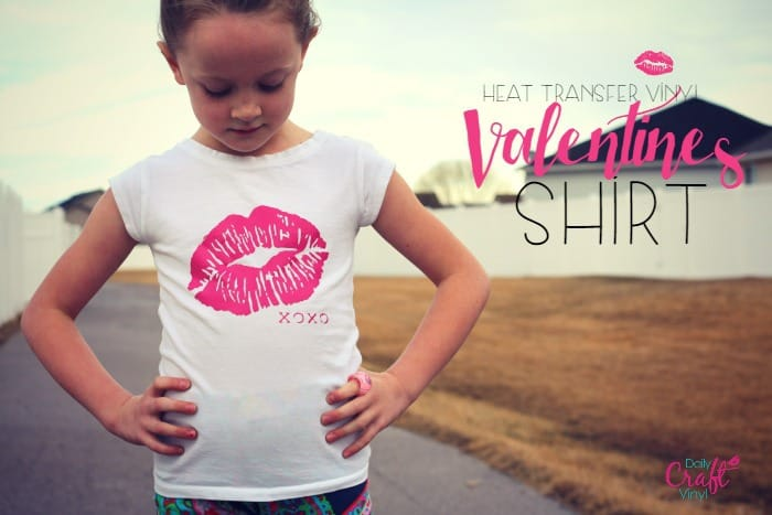 fun valentine shirt made with iron on t-shirt vinyl