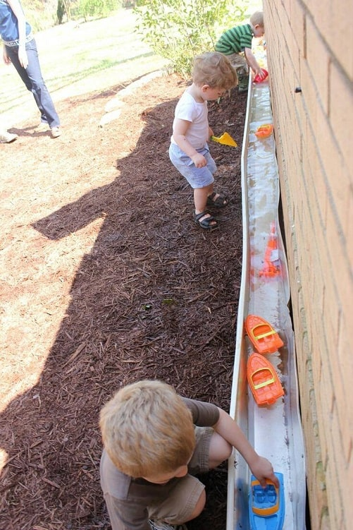 gutter-water-summer-kids-activity