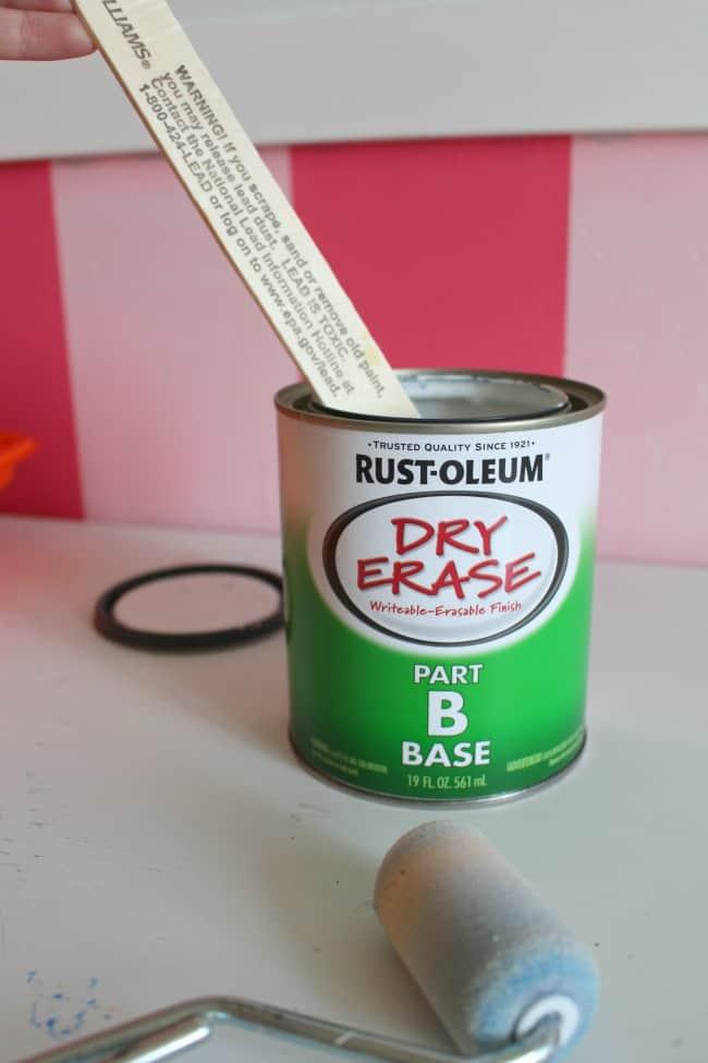 mix and stir paint