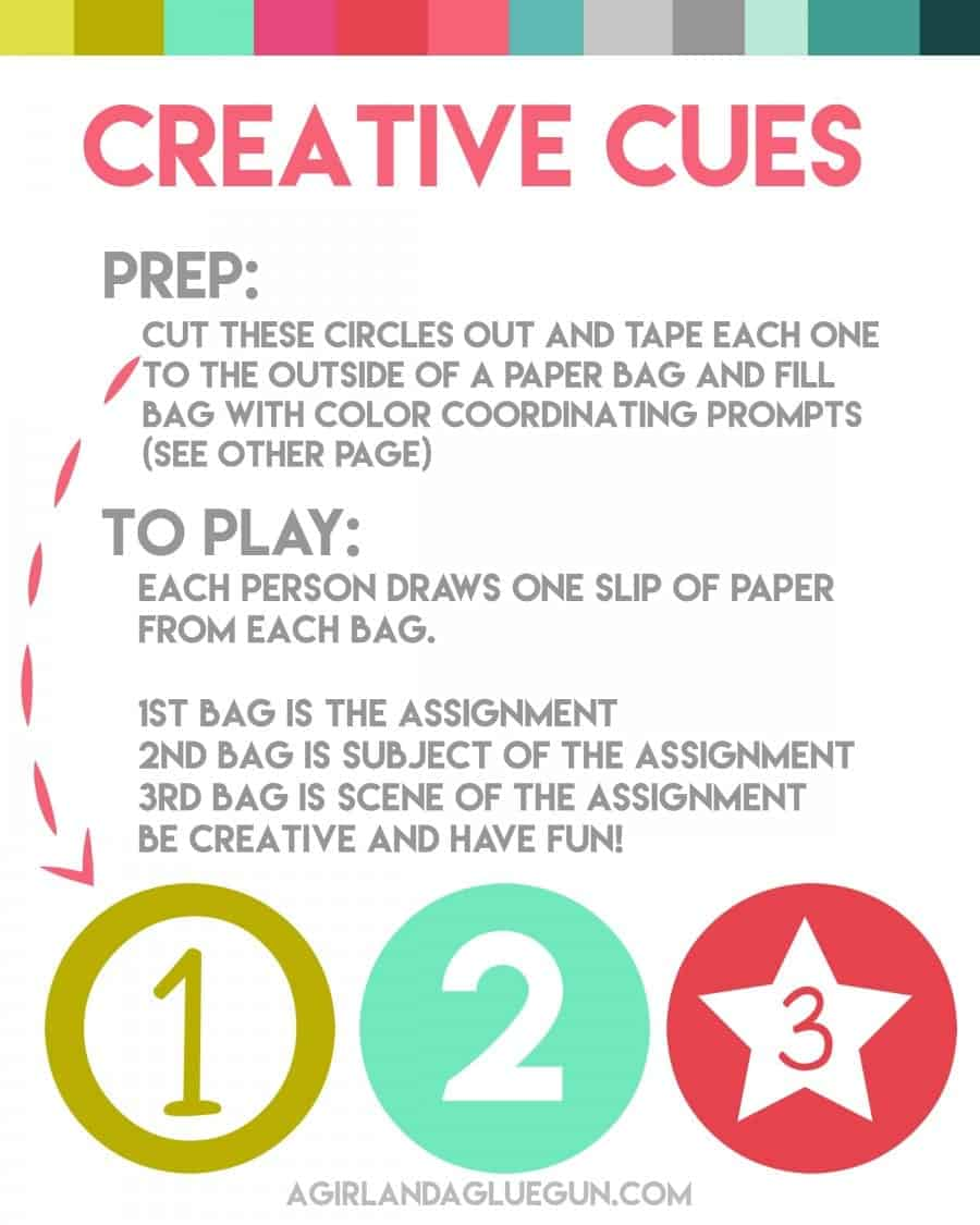 printable game--creative cues