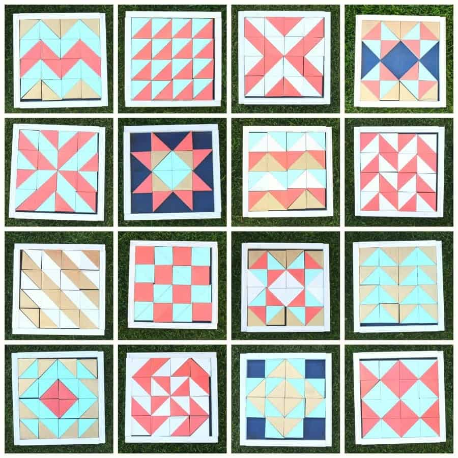 Quilt Patterns Using Squares And Triangles : Half square triangle quilt practice blocks - A girl and a glue gun