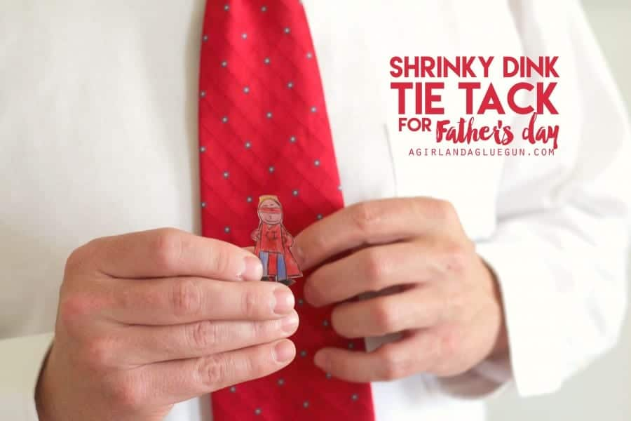 shrinky dink tie tacks for fathers day. Great gift for kids to diy and create!