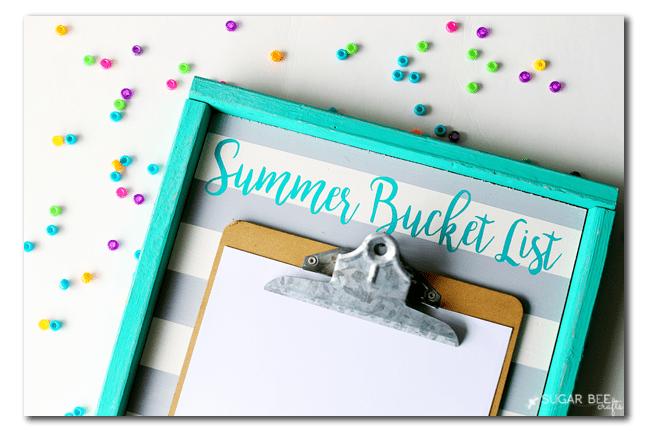 summer-bucket-list-board