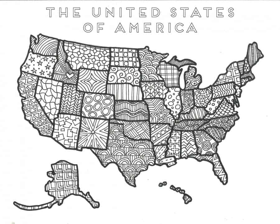 the united states Of america coloring printable