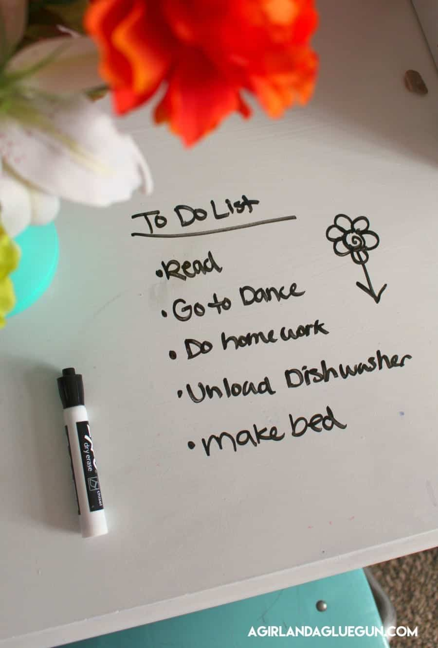to do list with dry erase