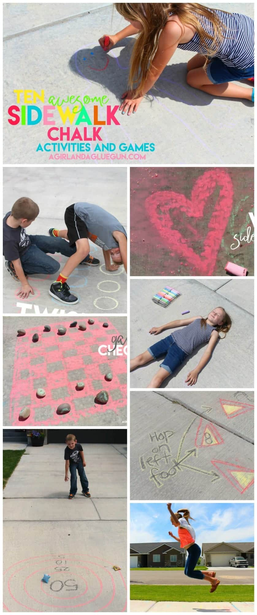 10 Awesomely Fun Sidewalk Chalk Activities