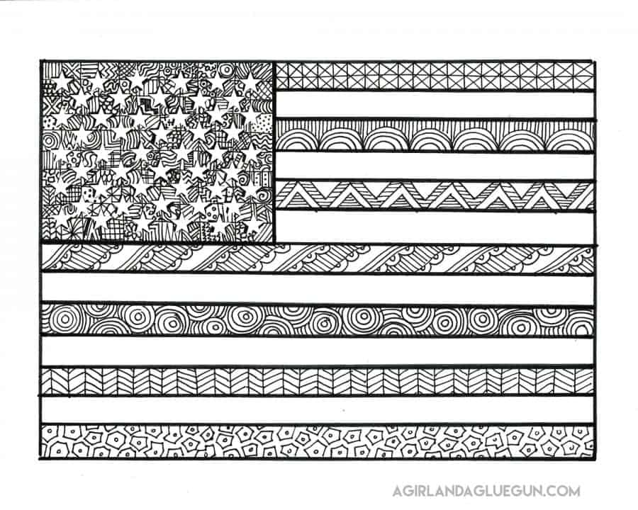 Sly image regarding patriotic coloring pages printable