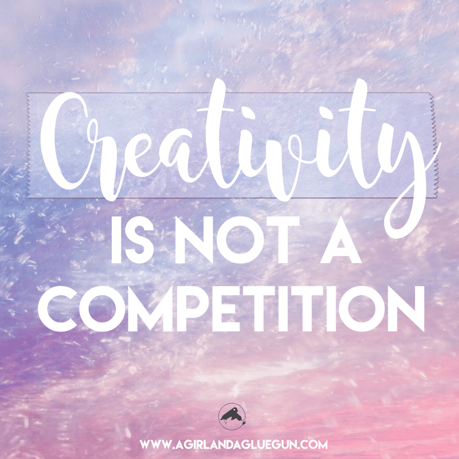 creativity is not a competition