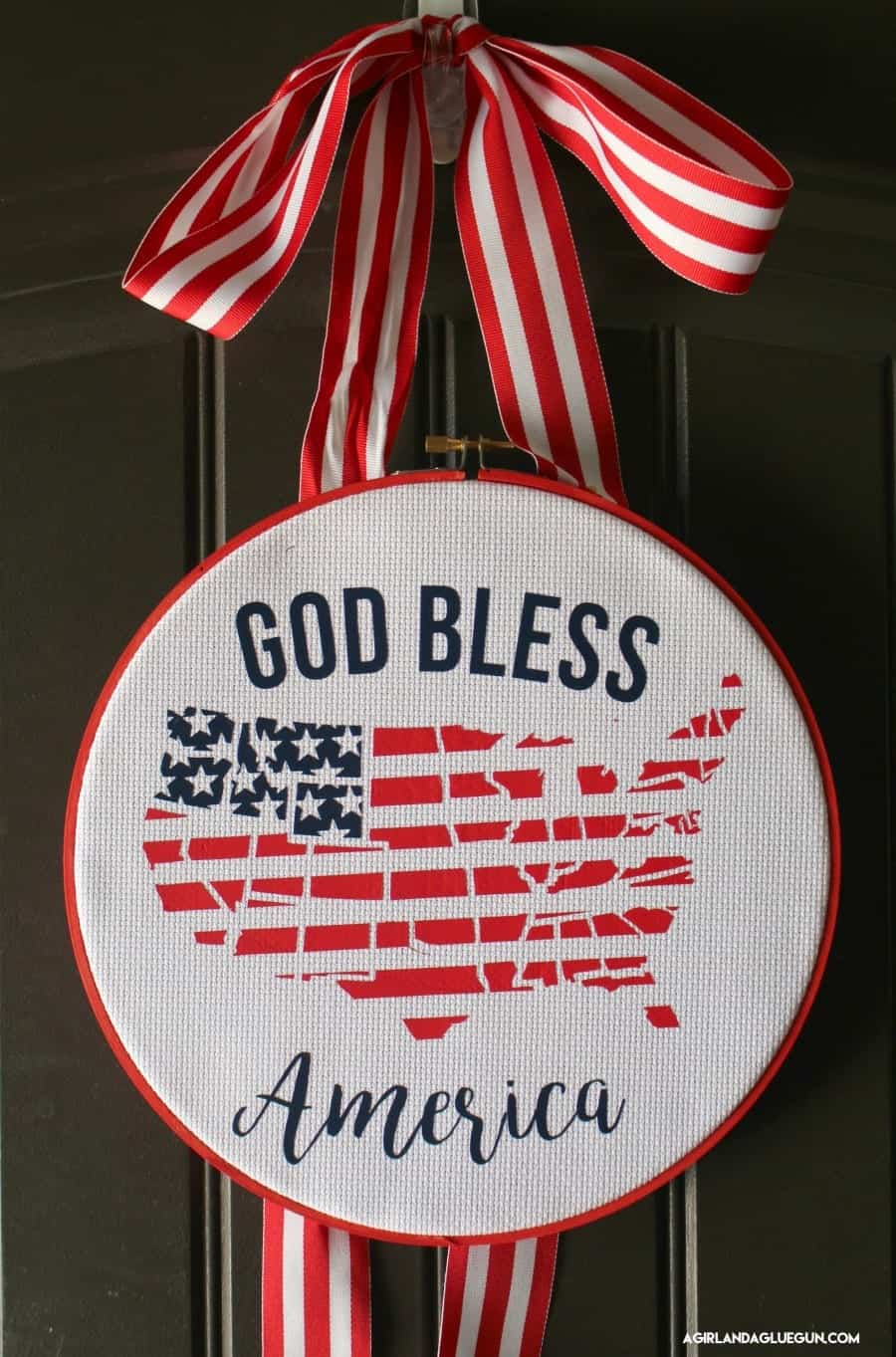 fun festive fourth of July door hanger using expressions vinyl heat transfer