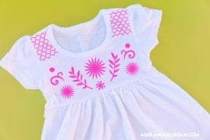 Faux embroidery with heat transfer vinyl