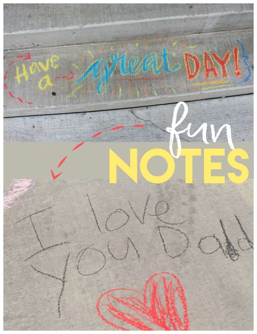 fun messages with sidewalk chalk