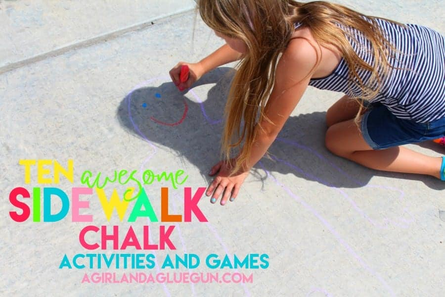 over 10 really awesome sidewalk chalk activities and games