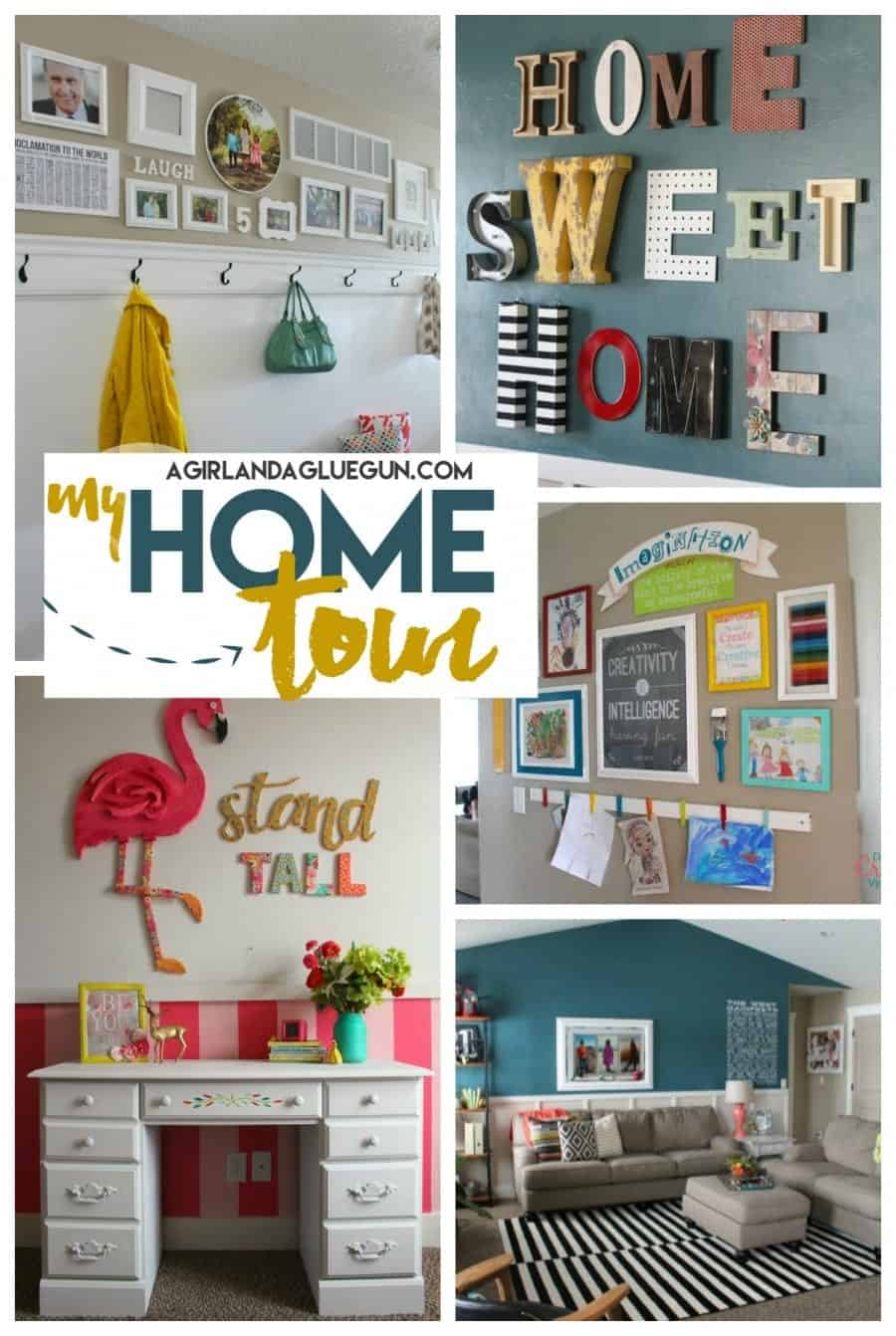 take a peek into my house! fun diys everywhere!