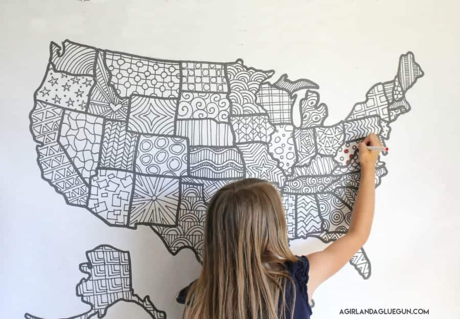 adult us flag coloring page free coloring page of us flag ... | 624x900