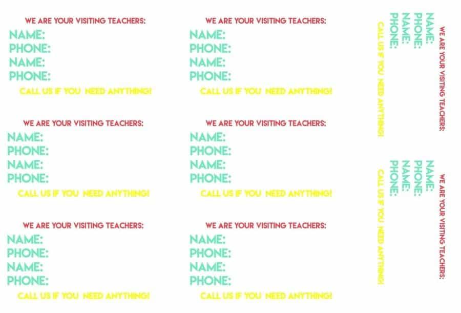 visit teaching handout
