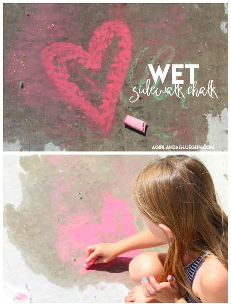 wet sidewalk chalk --like paint
