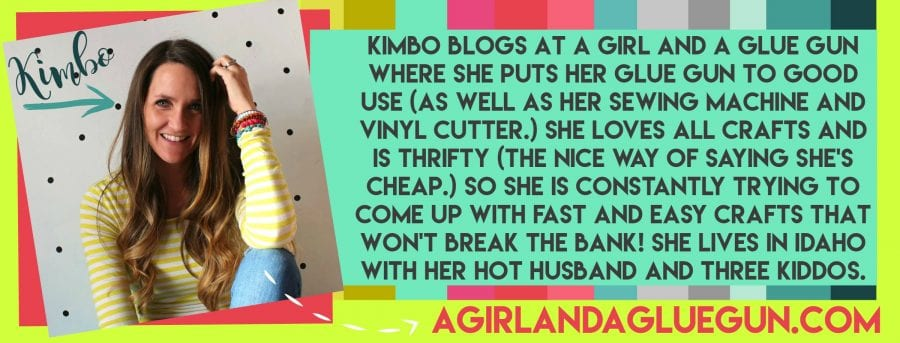 a girl and a glue gun