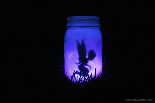 fairy glow jar with light sticks