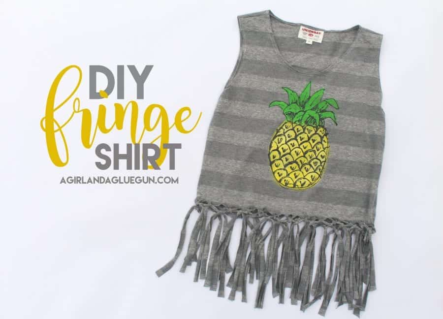 make your own fringe shirt for summer