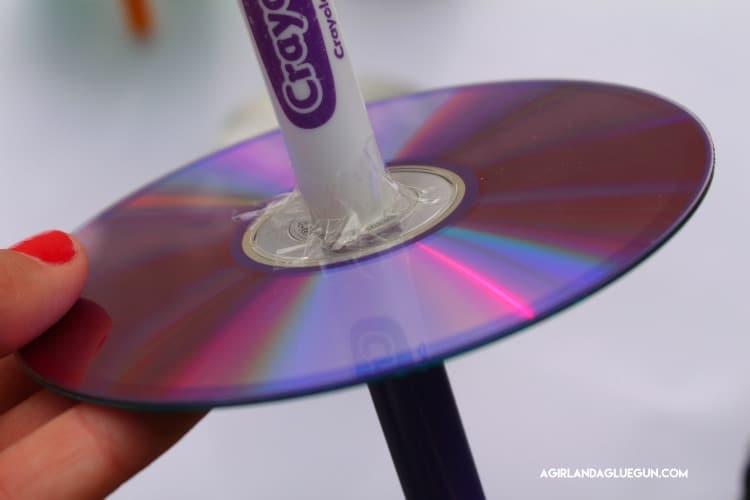 tape marker onto cd