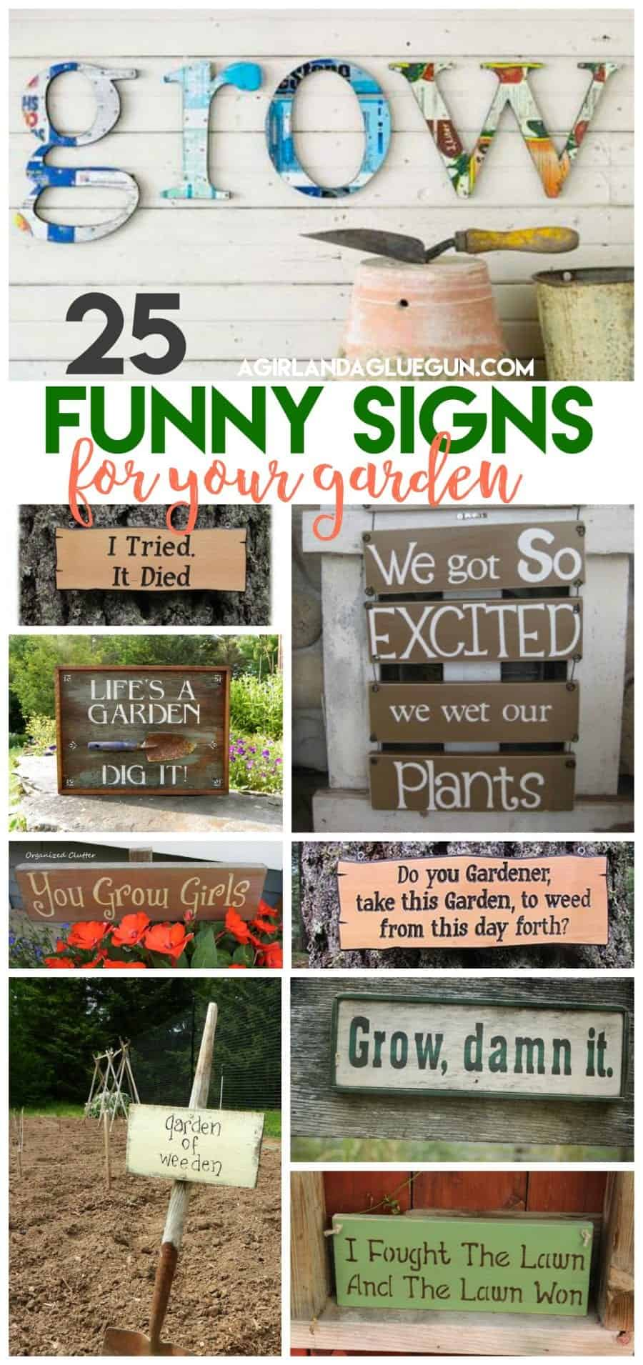 25 Super Funny Garden Signs A Girl And A Glue Gun