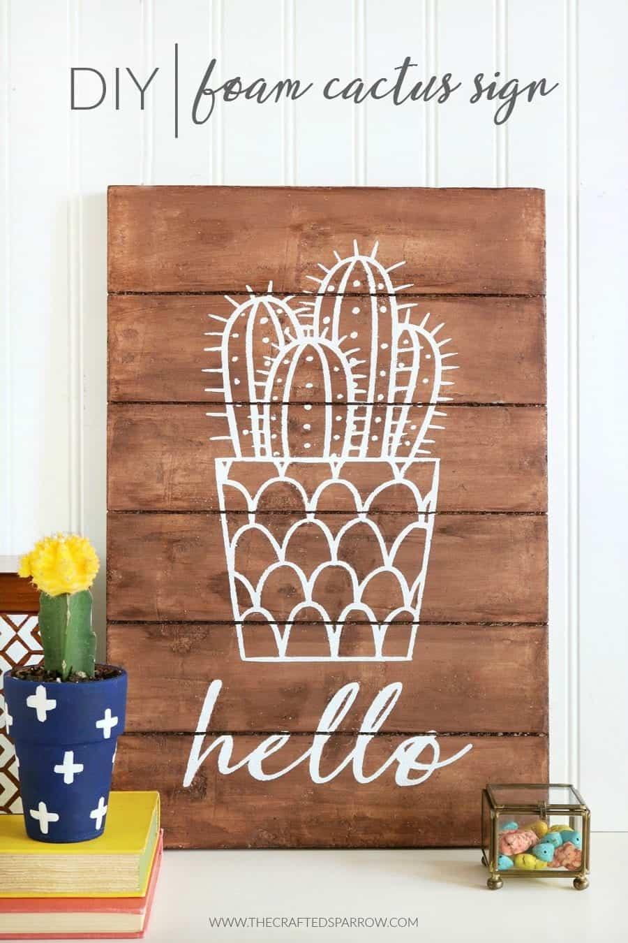 DIY-Foam-Cactus-Sign