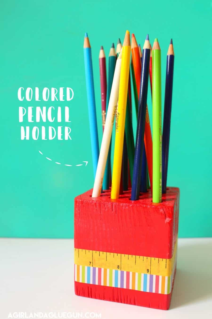 fun colored pencil holder diy