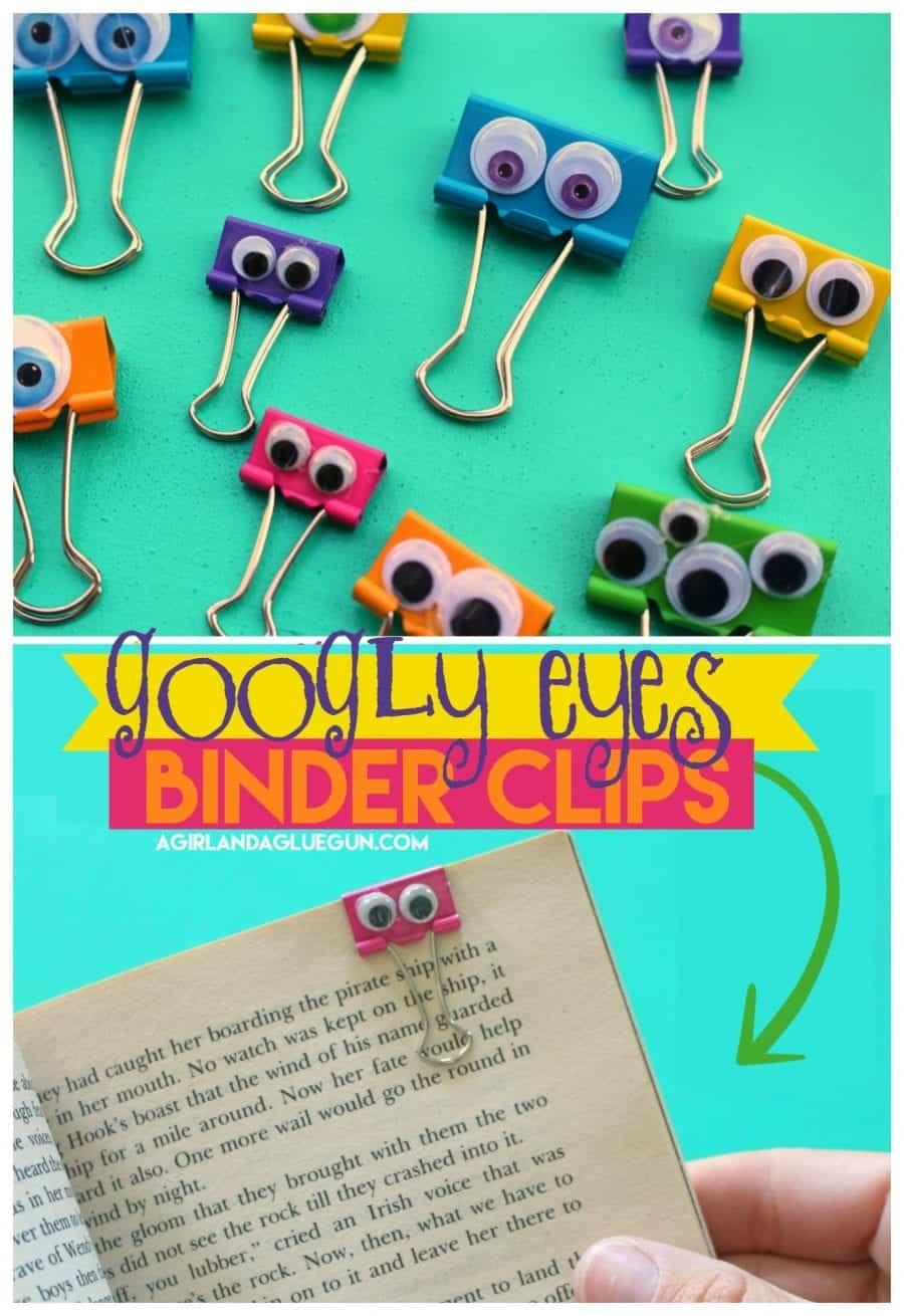 Binder Clip Googly Eyes A Girl And A Glue Gun