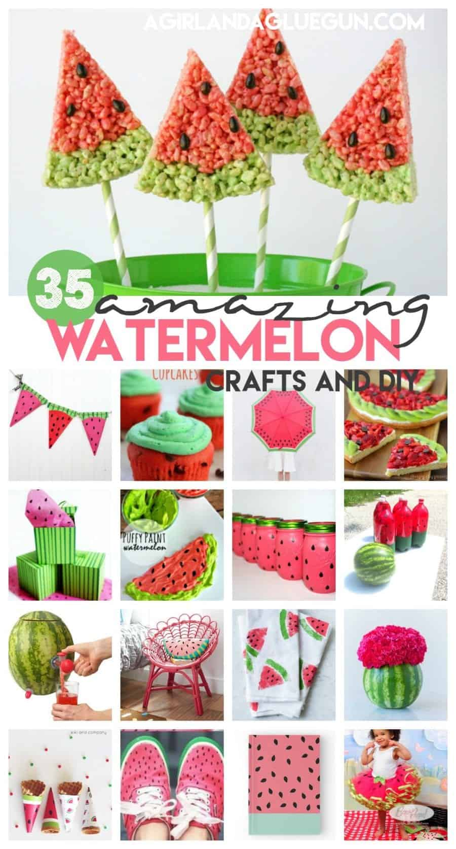 over 35 of the cutest watermelon treats, crafts and diy