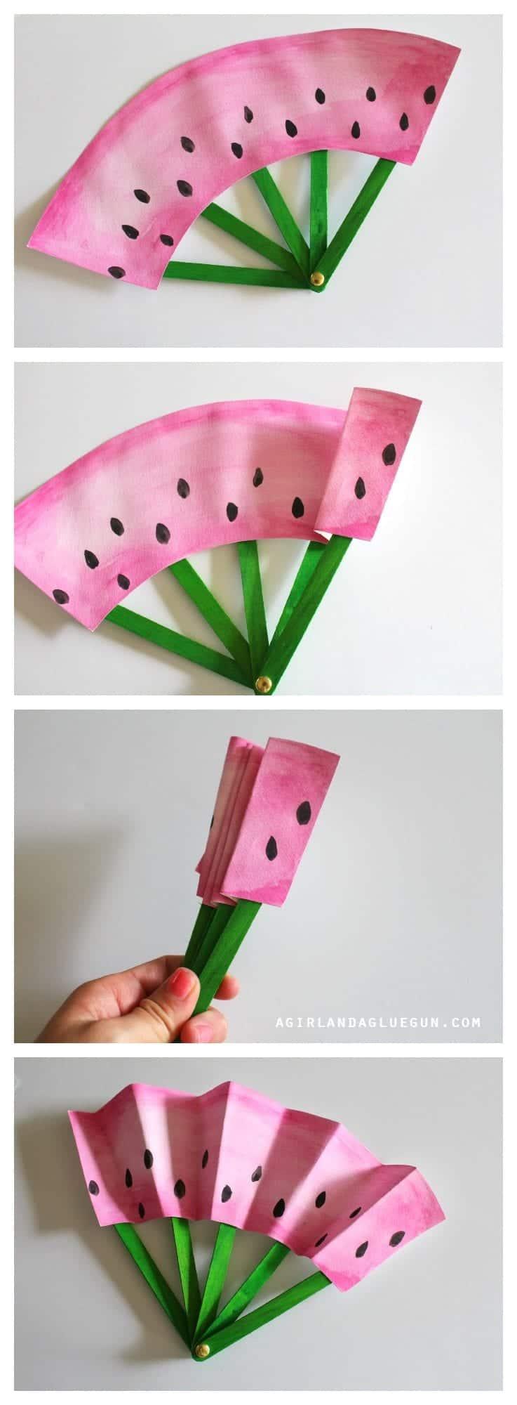 watermelon-hand-fan-diy