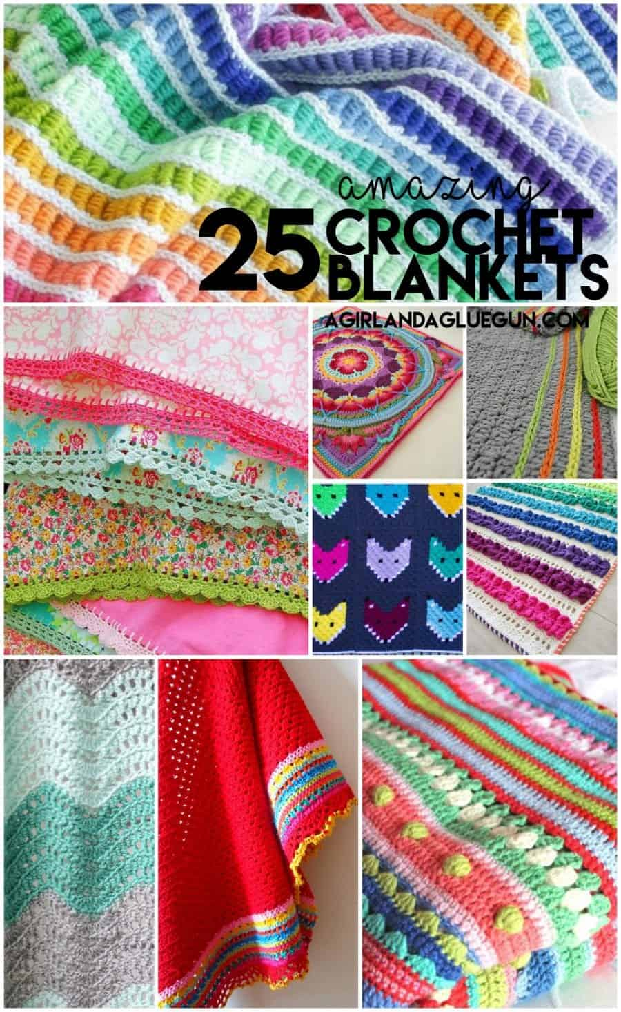 25 amazing crocheted blanket ideas so pretty!